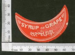India Vintage Trade Label Grape Syrup Health Drink # LBL109 - Labels