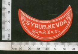 India Vintage Trade Label Kevda Syrup Health Drink # LBL111 - Labels