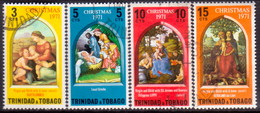 TRINIDAD & TOBAGO 1971 SG #399-402 Compl.set Used Christmas - Trinidad & Tobago (1962-...)