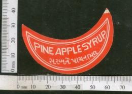 India Vintage Trade Label Pine Apple Syrup Health Drink # LBL117 - Labels