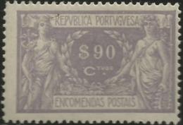 Portugal 1920-22 Parcel Post - Mercury And Commerce PP1 Mint Hinge Mark - Poste