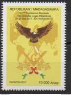 Madagascar Madagaskar 2017 Mi. ? XVème Conférence Mondiale Grandes Loges Régulières Franc-maçons Freimaurer Freemasonry - Madagascar (1960-...)