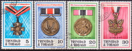 TRINIDAD & TOBAGO 1972 SG #417-20 Compl.set Used 10th Anniv Independence - Trinidad & Tobago (1962-...)