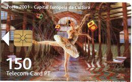 PHONECARDS---PORTUGAL--TELECOM CARD-- 150 U- PORTO 2001--CAPITAL EUROPEIA DA CULTURA-- 08.01--30.000 - Portugal