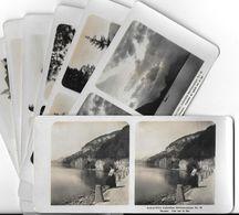 Collection Stéréoscopique LOT De 7 Photos Stéréoscopiques GALACTINA N°12-10-11-9-8-7- / THOUNE ( Berne) Suisse/ NPG 1906 - Stereoscopic