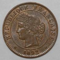 GADOURY 88 - 1 CENTIME 1892 A PARIS TYPE CERES - TTB+ - KM 826.1 - France