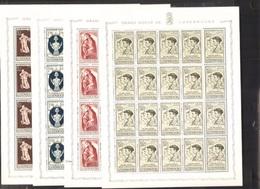 Luxembourg: Complete Set Sheets 5 X 5 Mi Nrs 395 -398 Caritas Postfrisch/neuf Sans Charniere /MNH/** - Ungebraucht