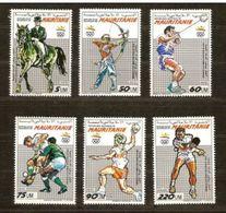 MAURITANIA 1990 - MAURITANIE -OLYMPICS BARCELONA 92 YVERT Nº 636/40 - Handbal