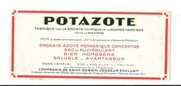 Buvard  Marque  Produits  Chimique  POTAZOTE - Buvards, Protège-cahiers Illustrés