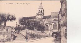 CPA - 17. TRIEL La Rue Galaud Et L'église - Triel Sur Seine