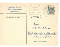 1967 Lorsch/hessen Postkarte Gelaufen 77 Singen - See Sonderstempel Freude Schenken Mit Telegramm - [7] République Fédérale