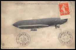 41476 Mourmelon Marne 1913 Camp De Chalons Dirigeable Militaire Semeuse De Carnet France Aviation Poste Aérienne Airmail - 1927-1959 Storia Postale