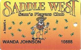 Saddle West Casino - Pahrump, NV - 4th Issue Slot Club - Ablecard.com Over Mag Stripe - Casino Cards