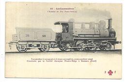 TRAIN - LES LOCOMOTIVES - Chemins De Fer Paris-Orléans - Locomotive à Voyageurs à 6 Roues - Eisenbahnen