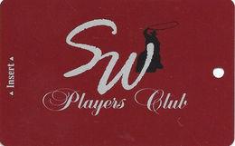 Saddle West Casino - Pahrump, NV - BLANK Slot Club - Casino Cards