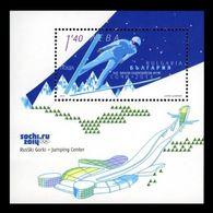 Bulgaria 2014 Mih. 5128 (Bl.381) Olympic Winter Games In Sochi. Ski Jumping MNH ** - Bulgaria