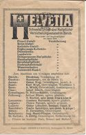 Suisse 1922 Enveloppe Des Chèques Postaux Avec Publicités ASSURANCES ACCIDENTS, VOLS, DOMMAGES, DEGATS EAU, Werbung - Transports