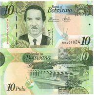 Botswana - 10 Pula 2014 UNC Paper Lemberg-Zp - Botswana