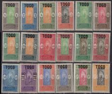 TOGO - Série Courante 1921 - Togo (1914-1960)