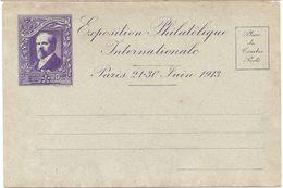 CARTE NEUVE EXPOSITION PHILATELIQUE INTERNATIONALE PARIS  - JUIN 1913 - VIOLETTE - France
