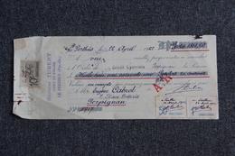 Lettre De Change -  LE PERTHUS, Sylvestre TUBERT, Agent En Douane. - Bills Of Exchange