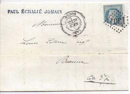 LETTRE Avec CORRESPONDANCE De DIJON à BEAUNE - N° 29 - TIMBRE INCOMPLET - 1849-1876: Klassik