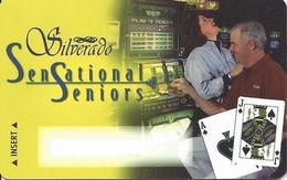 Silverado Casino - Deadwood SD - BLANK Slot Card - Dark Haired Woman - Casino Cards