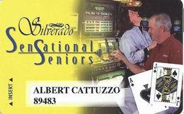 Silverado Casino - Deadwood SD - Slot Card - Dark Haired Woman - Casino Cards