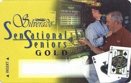 Silverado Casino - Deadwood SD - BLANK Gold Level Slot Card - Dark Haired Woman - Casino Cards