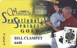 Silverado Casino - Deadwood SD - Gold Level Slot Card - Dark Haired Woman - Casino Cards