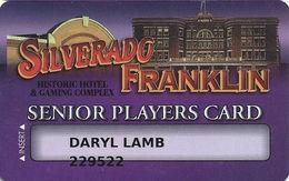 Silverado - Franklin Historic Hotel - Deadwood SD - Casino Slot Card - Smaller Box For Player Info - Casino Cards