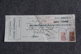 Lettre De Change - TOULOUSE, Louis GUIRAUD, Cafés Verts Et Torréfiés - Bills Of Exchange