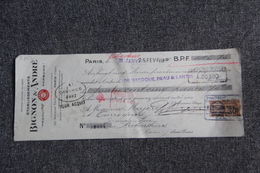 Lettre De Change - PARIS, Etablissements BIGNON Et ANDRE, Produits PARBOMA - Bills Of Exchange