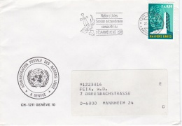 United Nations Geneve Cover W/cancel Nations Unies Session Extraordinaire 1978 (G91-16) - Geneva - United Nations Office