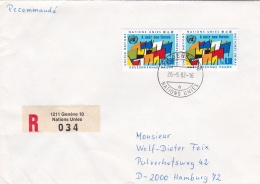 United Nations Geneve Registered Cover Posted 1982 (G91-16) - Geneva - United Nations Office