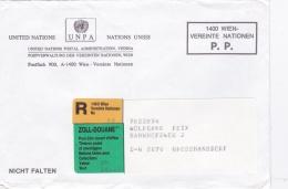 United Nations Austria PP Cover W/Customs C1 Label + Registration  (G91-16) - Vienna – International Centre