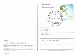 United Nations Austria Postal Stationary Used Wien 1991  (G91-16) - Vienna – International Centre