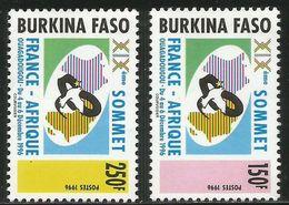 1996 Burkina Faso RARE France Afrique Conference Complete Set Of 2 MNH - Burkina Faso (1984-...)