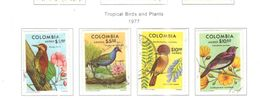 Colombia PA 1977 Tropical Birds E Piante    Scott.C644/647+See Scans On Scott.Page - Colombia