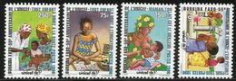 1996 Burkina Faso RARE UNICEF Breast Feeding Health Complete Set Of 4 MNH Try And Find Anywhere??? - Burkina Faso (1984-...)