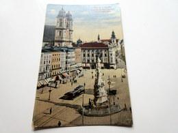 CPA - LINZ A. D. Donau - Franz Josefs-Platz Mit Dom Und Schmidthorgasse - Linz