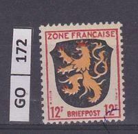 GERMANIA    ZONA FRANCESE1945Stemmi, 12 F, Nuovo - Zone Française