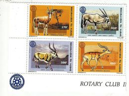 1996 Chad Tchad Rotary International Mammals Antelopes Complete Block Of 4 MNH - Chad (1960-...)