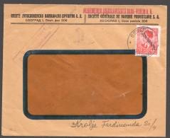 1941  SERBIEN  Zensurbrief N. Beograd  MiNr 4  EF - Besetzungen 1938-45