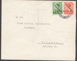1941 SERBIEN  Zensurbrief N. Beograd  MiNr 2,3 - Besetzungen 1938-45
