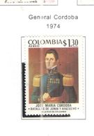 Colombia PA 1974 Gen.Cordoba   Scott.C609+See Scans On Scott.Page - Colombia