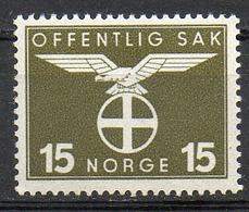 NORVEGE - 1942-44 - Timbres De Service - N° 44 - (Emblème Du Parti National Collectif) - Ungebraucht
