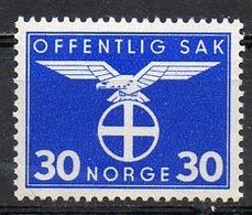 NORVEGE - 1942-44 - Timbres De Service - N° 47 - (Emblème Du Parti National Collectif) - Ungebraucht