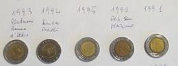 Italia 5 Monete 500 Lire Bimetallica Lotto 3 1993 BdI 1994 Pacioli 1995 1991 RSM 1991 - 1946-… : Repubblica