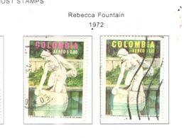 Colombia PA 1972 Fontane Rebecca   Scott.C578+579 See Scans On Scott.Page - Colombia